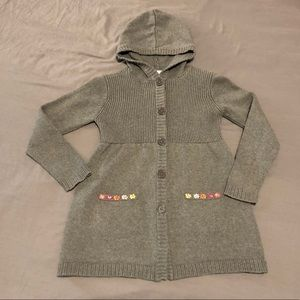 Hanna Andersson gray cardigan size 130